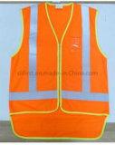 Безопасности Hi-Viz куртка с короткий кабель передней и задней панели