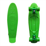 27inch PP Mini Skateboard Cruiser Complete Skateboards Banana Skateboard Plain Green-45