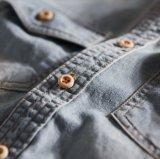 De hete Overhemden van de Mensen van het Denim van de Stijl 100%Cotton Geweven