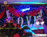 Tissu d'étoile du rideau DEL en étape de club du DJ pour le mariage