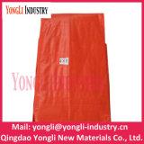 Imperméable personnalisé de gros de la bâche de protection PE Tissu Orange