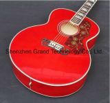 "Guitarra acústica enorme del rojo sólido 43 "" (SJ200)"