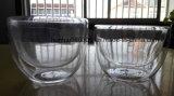 Frasco fundido mão do armazenamento do vidro de Pyrex