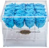 De plástico de alta qualidade personalizada Flor acrílico caixa de embalagem