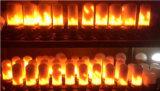 85-264VCA/12VDC 5W LED 7W Bombilla de luz fuego /bombilla LED con fuego