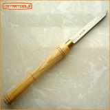"Oval Skew Wood Carving Chisel Wood Turning Tool Set Usado para Máquina (3/4 ""* 160)"