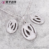 最近Environmentalの銅62373のFashion Xuping Women Luxury Rhodium Crystal Jewelry Set