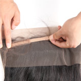 360 de la Dentelle Fermeture Frontale pré arracha avec Bébé Sèche Cheveux soyeux humain Remy brésilien droites 10-22pouces noir naturel