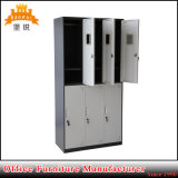 Cacifos fino do Wardrobe do aço/metal/ferro do compartimento da porta da borda 6 do projeto Jas-028 moderno