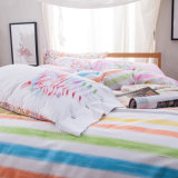 2017 새로운 디자인은 면 침대 시트 누비이불 덮개를 인쇄했다