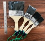 Деревянная щетка краски ручки с чисто черным изготовлением щетки щетинки