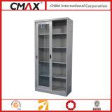 Armário de arquivamento armário de altura total com porta deslizante de vidro Cmax-Sc003