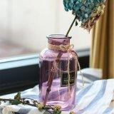 Colorida Decoración Vintage cuerda florero de vidrio