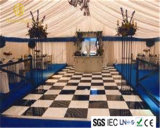 結婚式のためのHomeilight 2X2FT Balckおよび白いアクリルのダンスのタイルLEDのダンス・フロア