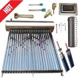 加圧か、または高圧ステンレス鋼のヒートパイプの真空管のソーラーコレクタシステム太陽熱湯ヒーター