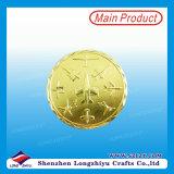 旧式な金は中国からの金属の挑戦硬貨をめっきした