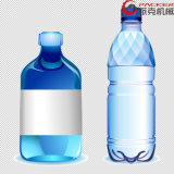 Garrafa de Enchimento de água na linha de produção de bebidas