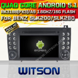 Witson Android 5.1 Car DVD GPS para Benz Slk200 / Slk280 Slk350 / Slk55 2004-2012 com Chipset 1080P 16g ROM WiFi 3G Internet DVR Support (A5576)