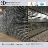 Tubo de acero galvanizado sumergido caliente del cuadrado del carbón Ss400