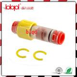 Conetor do bloco do gás (anel amarelo), conetores da selagem do cabo da fibra óptica do duto 7/4.5mm