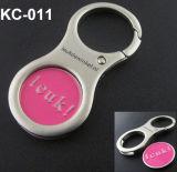 Euro moneta Keychain con il marchio del cliente