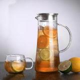 Jogo de vidro do jarro da água dos produtos vidreiros da chaleira da água do vidro de Pyrex