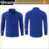 Camisa táctica de Esdy del paño grueso y suave de la camisa larga al por mayor de la funda