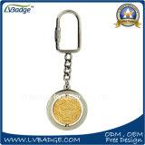 Kundenspezifische runde geformte drehen Metall Keyholder