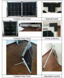 Складная панель солнечных батарей с переставным кронштейном