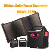 De draagbare die Levering van de Macht van de Batterij van het Lithium van de Generator door Zonnepaneel wordt geladen