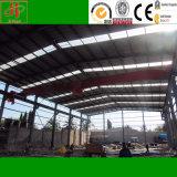 プレハブの建物は工業デザインの鉄骨構造の倉庫を組立て式に作った