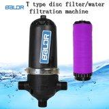 Tipo indústria da taxa de fluxo T de Baldr grande e filtro de disco da água de irrigação
