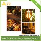 Calle la luz solar en el exterior de la luz de jardín de césped con batería de litio