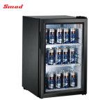 Refrigerador do indicador refrigerador pequeno de vidro do refrigerador da porta do mini mini