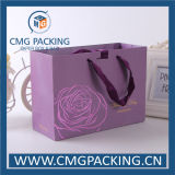 Wedding Souvenir (CMG-MAY-020)를 위한 낭만주의 High End Purple Paper Bag
