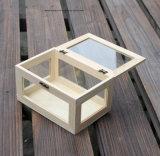Lindo Caja de regalo de madera de pino, caja de embalaje de madera