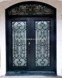 На экране записи из кованого железа дверь с верхней части для бровей дизайн