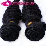 工場直接供給のバージンの毛100%の人間の毛髪の深く巻き毛のブラジルかペルーのマレーシアのインドの束