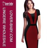Women Pencil Bodycon Work Business Dress (L36100-2)