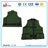 Зеленый цвет Многофункциональный Professional рыболовство или охота спасательный жилет