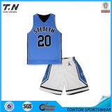 2015 uniformes réversibles de basket-ball de sublimation faite sur commande chaude de vente