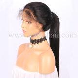 Cheveux humains droite de la soie vierge Full Lace Wig pour les femmes