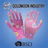 Яркие выходные данные нитриловые перчатки безопасности Gmnr009