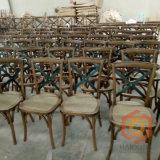 La Chine Fabricant croix de bois de chêne hêtre Retour mat Chaise en rotin