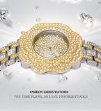 De Dames van de Manier van Belbi letten op Hoogtepunt van Sterren draaien het Waterdichte Horloge van het Kwarts van de Gesp van de Juwelen van het Roestvrij staal