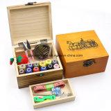 Handmade Jolie boîte de rangement en bois de couleur pour les petits kits