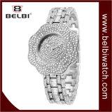 Belbi Form-Dame-Uhr voll Stern-Vorwahlknopf-der wasserdichten Edelstahl-Schmucksache-Faltenbildung-Quarz-Uhr