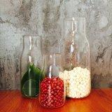 Bela garrafa de vidro de boca larga para armazenamento de chá