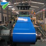bedekte de Blauwe Kleur van 1000mm de Gegalvaniseerde Rol Ral 9001 PPGI van het Bladstaal van het Dak Met een laag