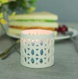 Spätester weißer gekopierter keramischer Kerze-Halter